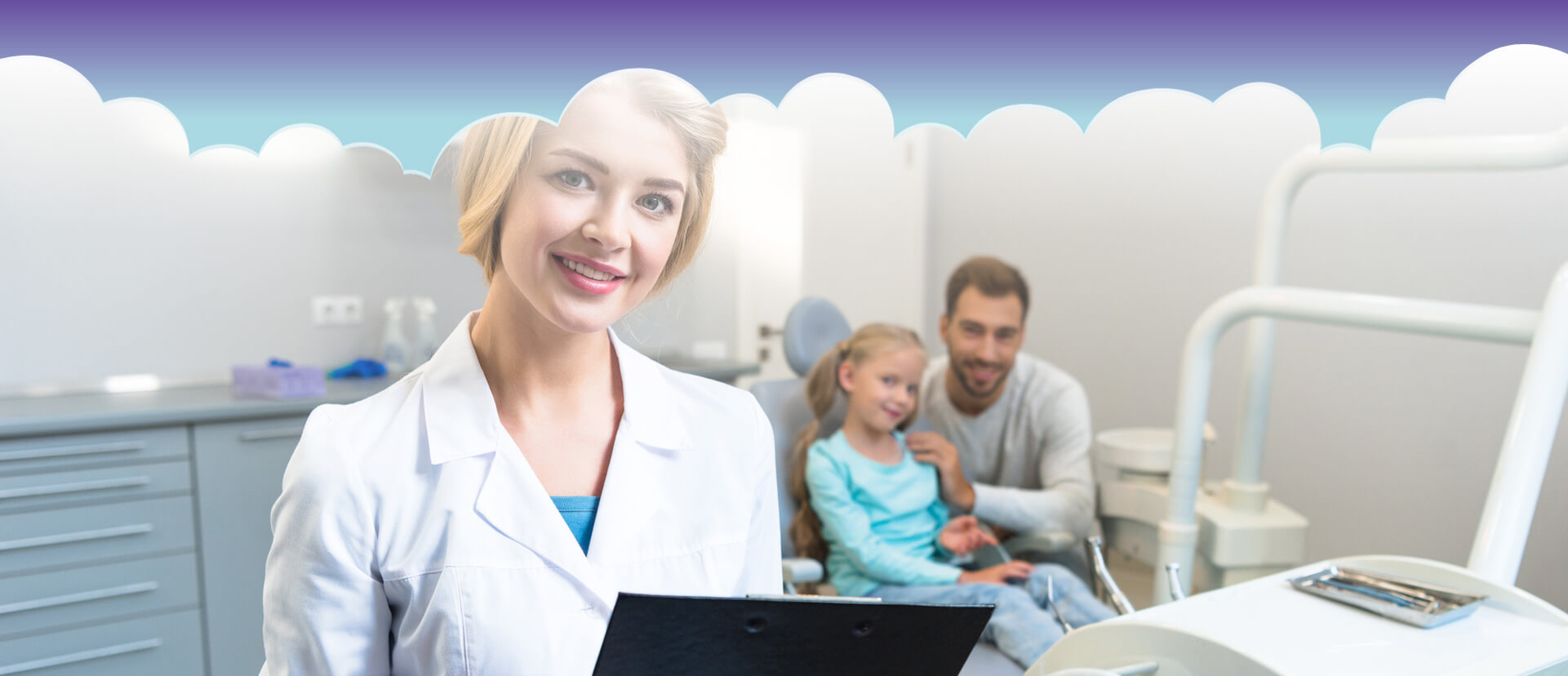 Dental assistant smiling at the camera